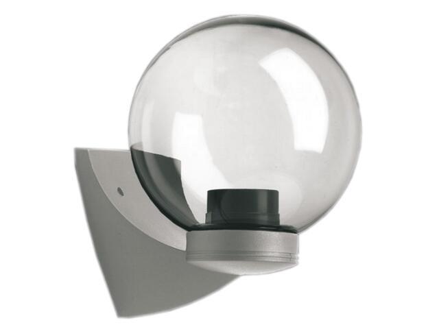 Kinkiet ogrodowy ASTER PLUS 60W E27 klosz bezbarwny 20cm gwint srebrny Sanneli Design