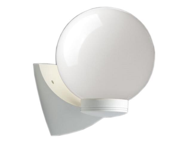 Kinkiet ogrodowy ASTER PLUS 60W E27 klosz mleczny 20cm gwint biały Sanneli Design