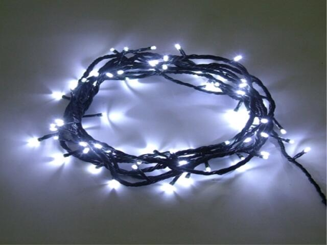 Lampka choinkowa zewnętrzna LED String Lite 20m białe diody kabel biały 120szt MK Ilumination