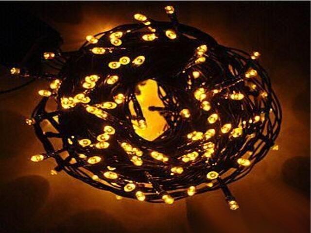 Lampka choinkowa zewnętrzna LED String Lite 20m bursztynowe diody 120szt MK Ilumination