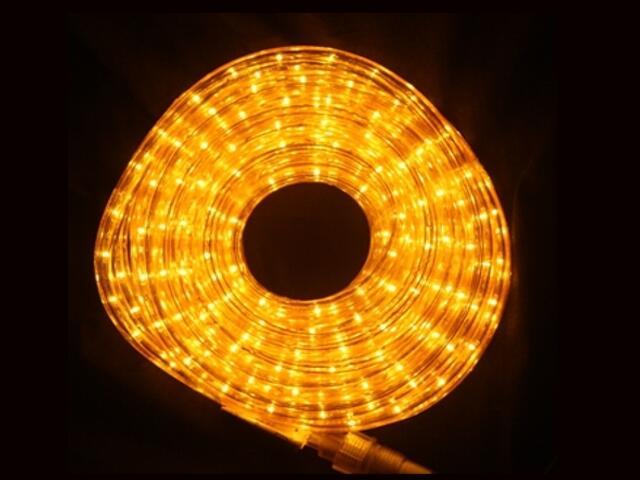 Wąż świetlny LED Rope Light diody bursztynowe 36szt/m MK Ilumination
