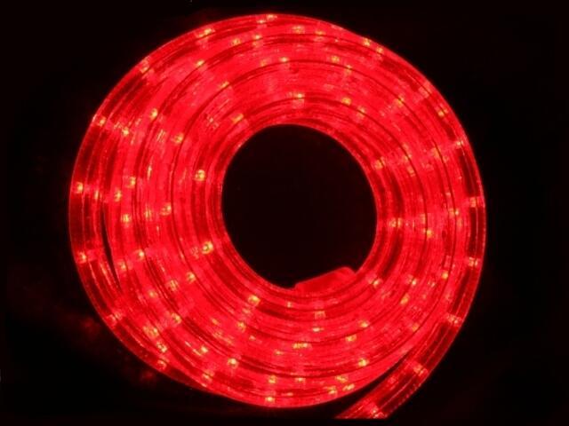 Wąż świetlny Roman Twisted żarówki czerwone 36szt/m MK Ilumination