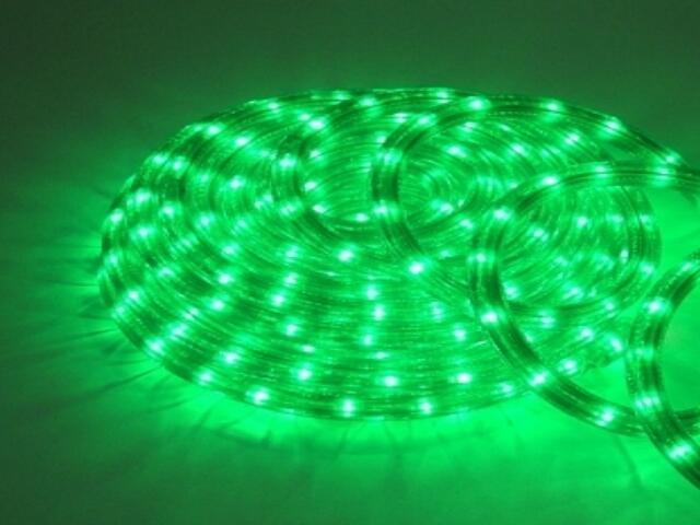 Wąż świetlny Roman Twisted żarówki zielone 36szt/m MK Ilumination