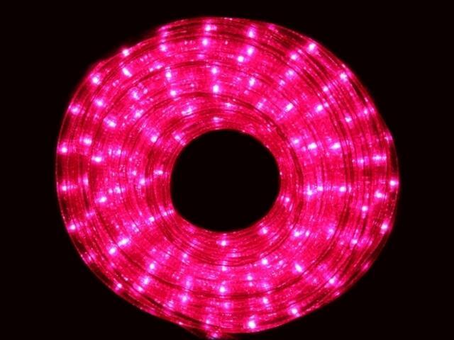 Wąż świetlny Roman Twisted żarówki różowe 36szt/m MK Ilumination