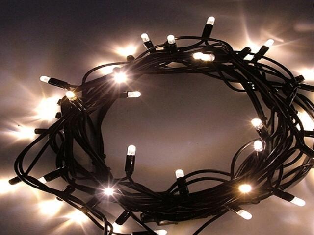 Girlanda świetlna LED DRAPE LITE 2m diody ciepłe białe kabel czarny 300szt MK Ilumination