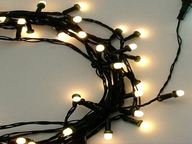 Girlanda świetlna LED Giant Ice Lite 4m diody ciepłe białe kabel czarny 304szt MK Ilumination