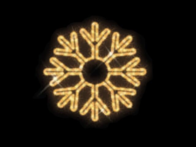 Motyw świetlny KRYSZTAŁ LODU Quick Fix ICE LED fi40cm diody ciepłe białe MK Ilumination