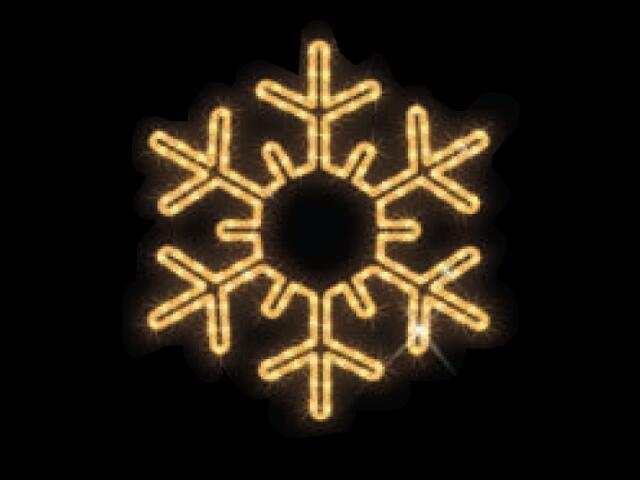 Motyw świetlny PŁATEK ŚNIEGU Quick Fix Snowflake diody ciepłe białe fi53cm MK Ilumination