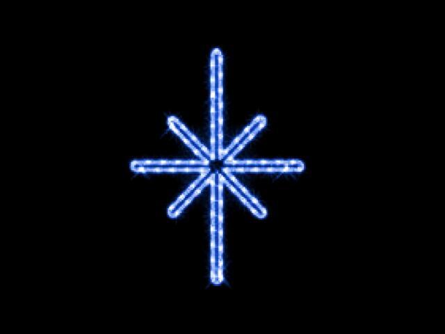 Motyw świetlny GWIAZDA POLARNA Quick Fix Polaris 38x50cm diody niebieskie MK Ilumination