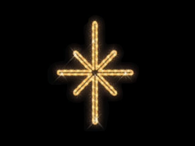 Motyw świetlny GWIAZDA POLARNA Quick Fix Polaris 38x50cm diody ciepłe białe MK Ilumination