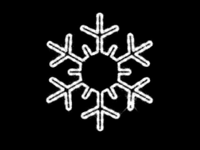 Motyw świetlny PŁATEK ŚNIEGU Quick Fix Snowflake diody białe fi53cm MK Ilumination