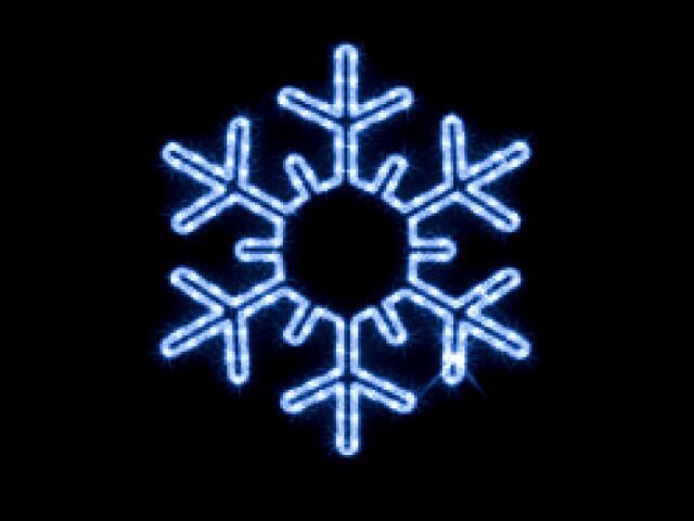 Motyw świetlny PŁATEK ŚNIEGU Quick Fix Snowflake diody niebieskie fi43cm MK Ilumination