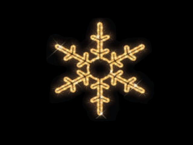 Motyw świetlny KLASYCZNY PŁATEK ŚNIEGU Quick Fix fi53cm diody ciepłe białe MK Ilumination