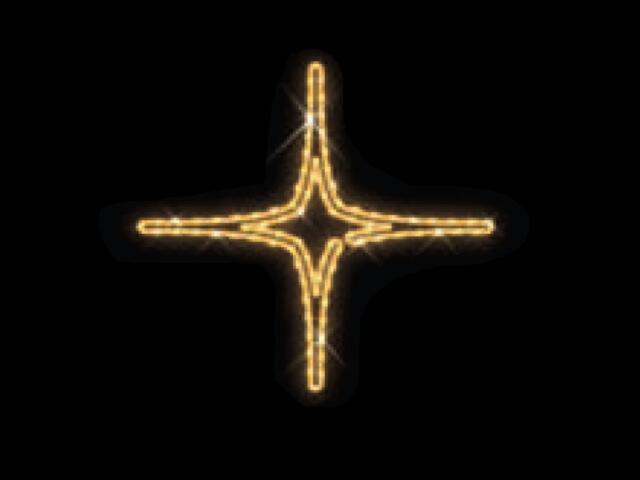 Motyw świetlny GWIAZDA ASTERO 1 Quick Fix Astero 1 fi63cm diody ciepłe białe MK Ilumination