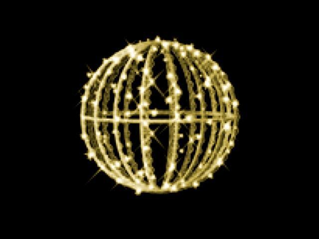 Motyw świetlny KULA MERIDA 3D fi40cm diody ciepłe białe MK Ilumination