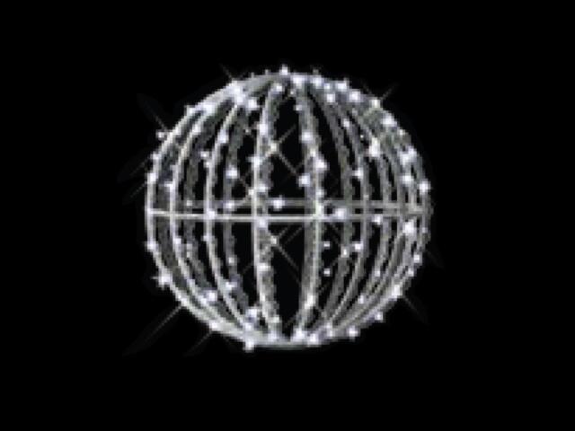 Motyw świetlny KULA MERIDA 3D fi40cm diody białe MK Ilumination