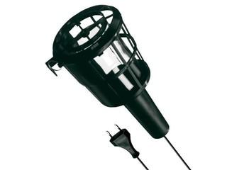 Lampa warsztatowa z kablem PLASTIC 60W E27 230V czarna Lena Lighting