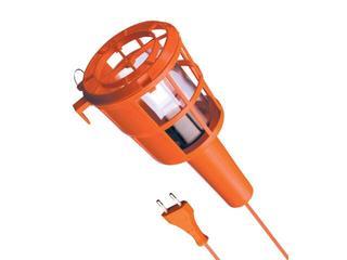 Lampa warsztatowa z kablem PLASTIC 60W E27 230V pomarańczowa Lena Lighting