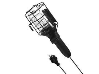 Lampa warsztatowa z kablem PRACTIC 60W E27 230V IP44 czarna Lena Lighting
