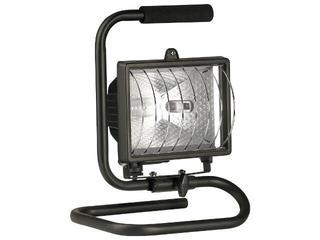Lampa warsztatowa z kablem HLP 500W przenośna czarna Lena Lighting