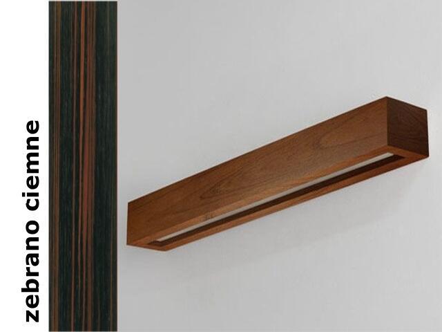 Kinkiet CASPE 80 szkło dolne zebrano ciemne 8804D206 Cleoni