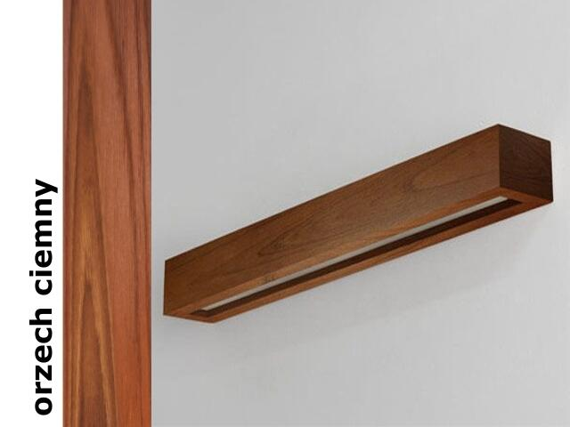Kinkiet CASPE 70 szkło dolne orzech ciemny 8806D209 Cleoni