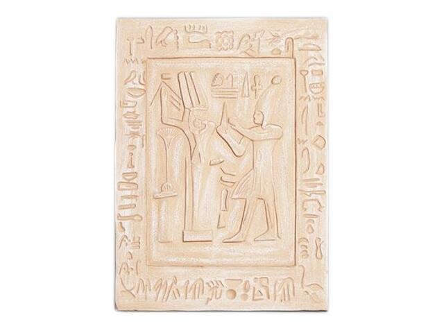 Kinkiet PŁASKORZEŹBA EGIPT P5 niepodświetlony piaskowy Cleoni