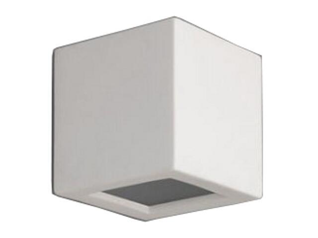 Kinkiet KUBIK z dolnym szkłem G9 biały 1038B Cleoni
