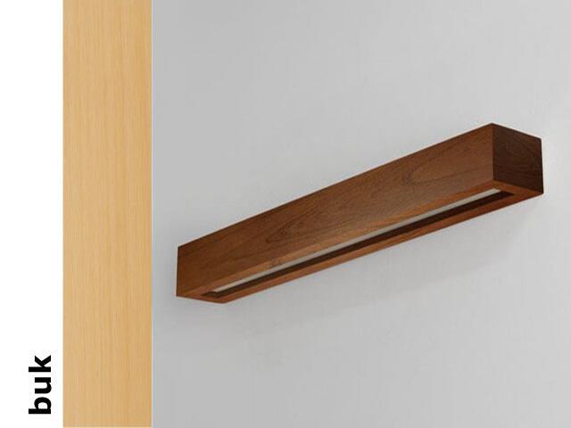 Kinkiet CASPE 90 szkło dolne buk 8802B202 Cleoni
