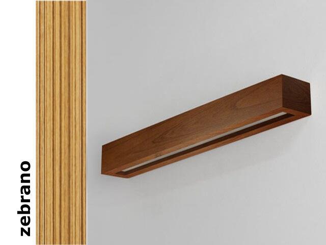 Kinkiet CASPE 80 szkło dolne zebrano 8804D205 Cleoni