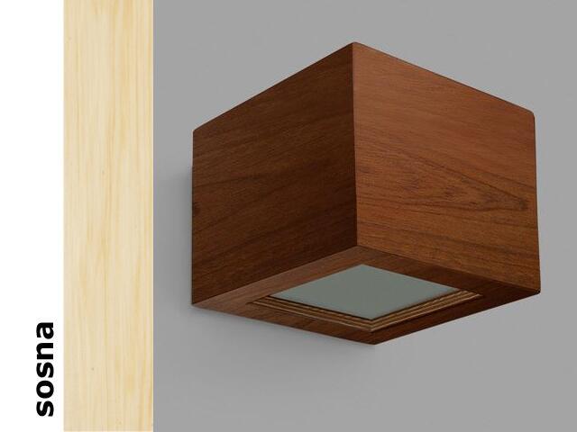 Kinkiet CASPE 12 szkło dolne sosna 8816H201 Cleoni