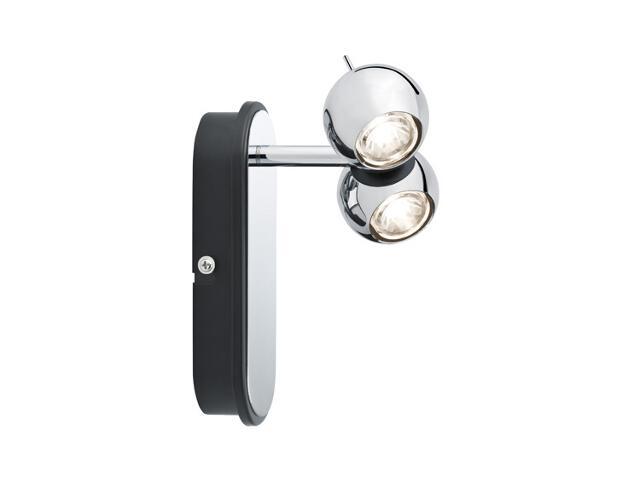 Kinkiet LED Sphere spot 2x5W chrom Paulmann