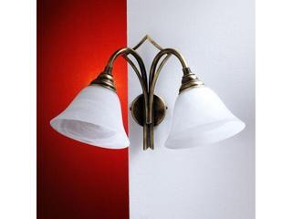 Kinkiet STEFANO 2xE27 60W 365D biały, złoty Aldex