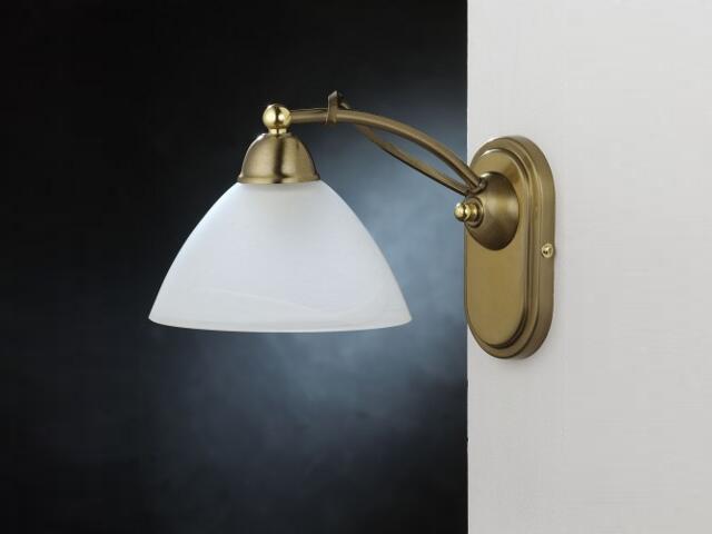 Kinkiet RING 1xE27 60W 366C biały, złoty Aldex
