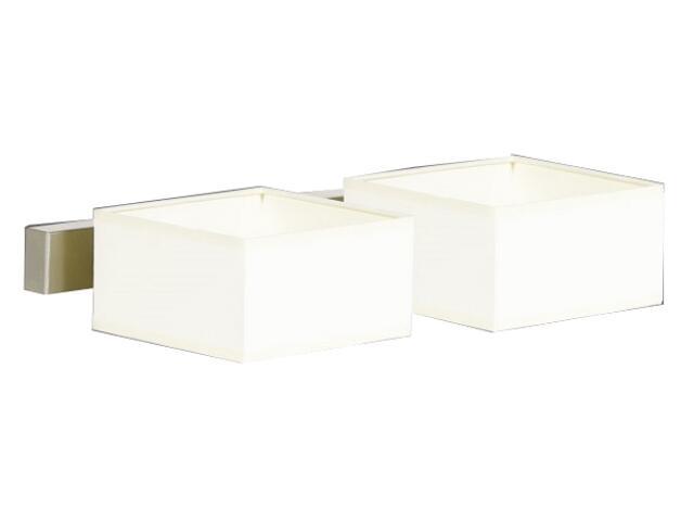 Kinkiet podwójny Lima1 2x40W E14 satyna / kremowy Sanneli Design