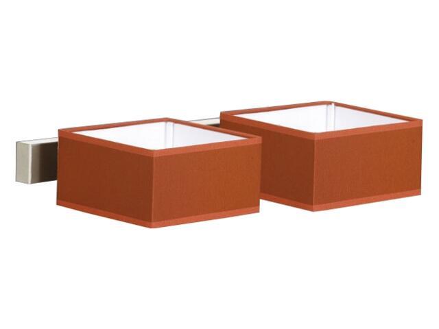 Kinkiet podwójny Lima2 1x40W E14 satyna / czerwony Sanneli Design