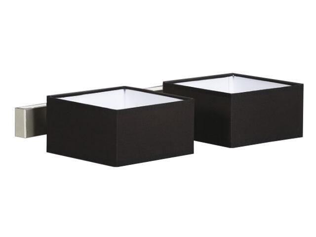 Kinkiet podwójny Lima3 1x40W E14 satyna / czarny Sanneli Design