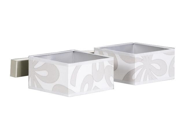 Kinkiet podwójny Lima4 2x60W E14 satyna/szary Sanneli Design