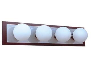 Kinkiet listwa Arte4 4x25W G9 chrom / MDF Sanneli Design