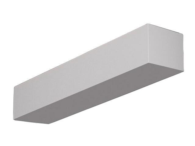 Kinkiet KORYTKO 70 niskie z dolnym szkłem białe 1008. Cleoni