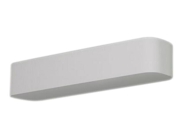 Kinkiet KORYTKO 70 zaokrąglone wysokie pełne białe 1055. Cleoni