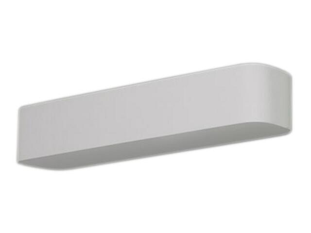 Kinkiet KORYTKO 60 zaokrąglone wysokie pełne białe 1069. Cleoni