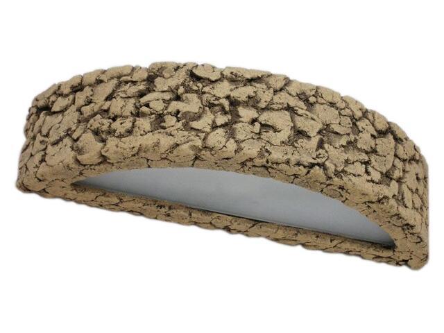 Kinkiet OMEGA szkło szamot jasny ażurowy 1163. Cleoni
