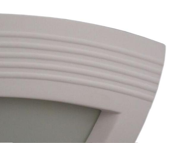 Kinkiet ELMARCO narożnik prążki biały 1300. Cleoni