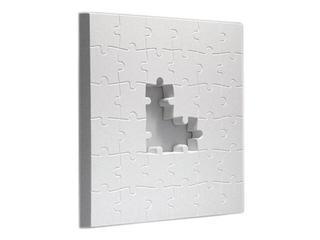 Kinkiet OBRAZ PLANSZA z PUZLAMI mały 375x375 3092 biały Cleoni