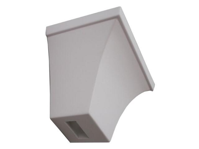 Kinkiet TRAPEZ wklęsły biały 6380 Cleoni