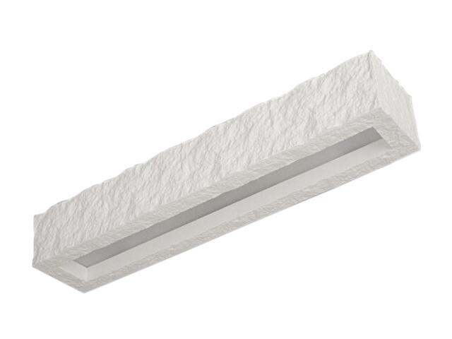 Kinkiet KORYTKO 30 ze szkłem kamienne biały 6770 Cleoni