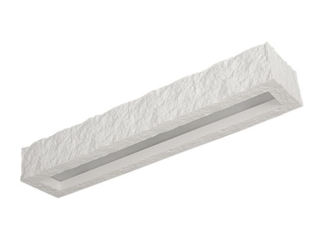 Kinkiet KORYTKO 60 ze szkłem kamienne biały 6773 Cleoni