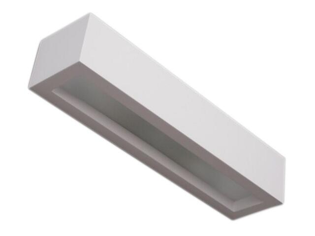 Kinkiet KORYTKO 40 niskie z dolnym szkłem biały 6853 Cleoni