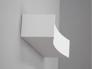 Kinkiet KORYTO 50 wklęsłe pełne biały 7730 Cleoni